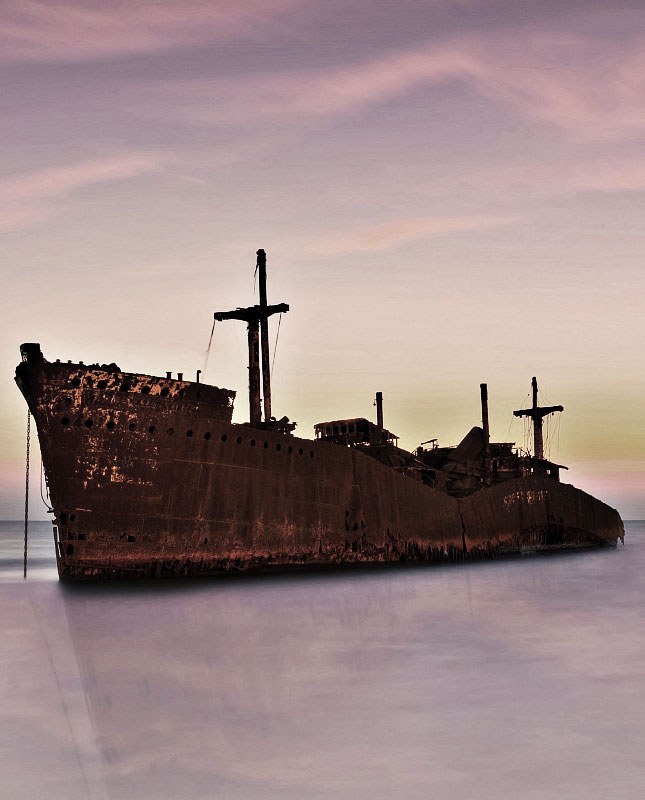 Greek Ship in kish island